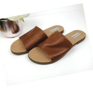Steve Madden Karolyn Cognac LEATHER Sandals 10